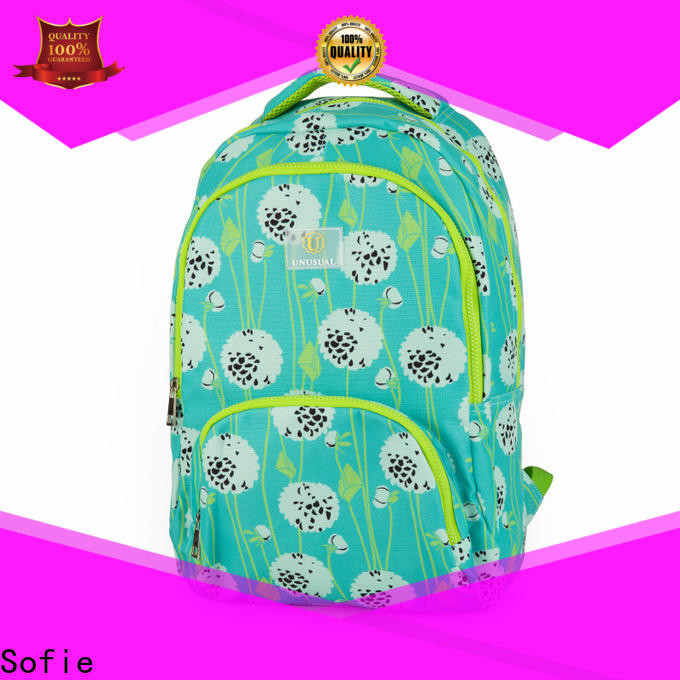 Sofie with TPU reflective hat students backpack wholesale for packaging