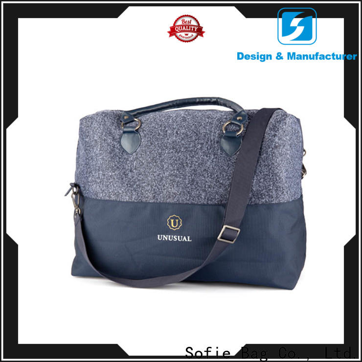 knitted fabric travel bags for women factory direct supply for business