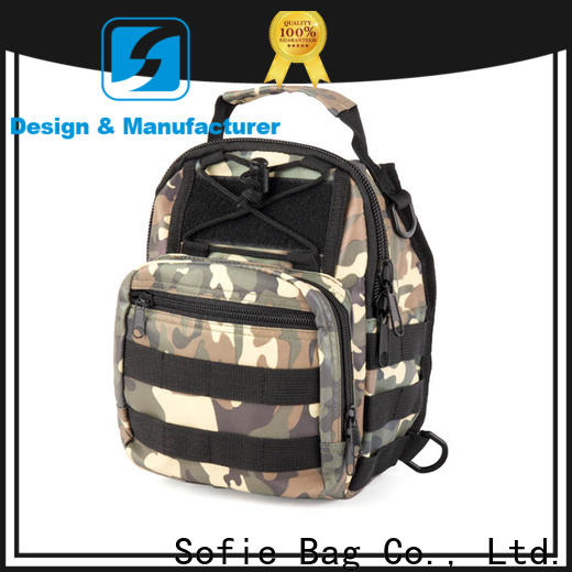 rectangular design military chest bag factory direct supply for men