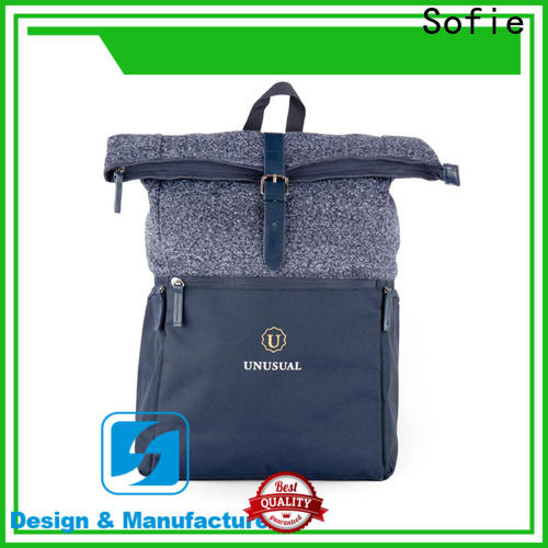 Sofie wrinkle printing casual backpack manufacturer for business