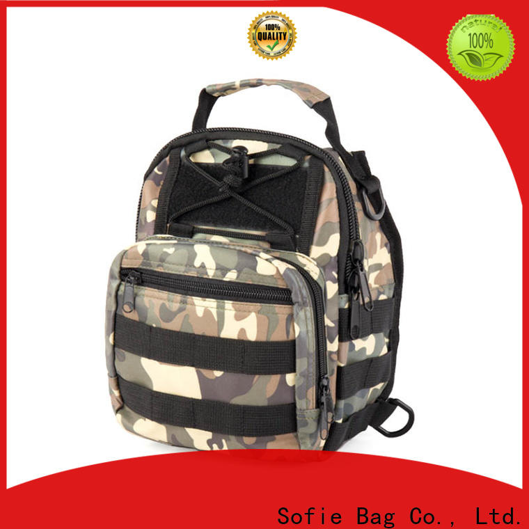 camouflage military chest bag supplier for men
