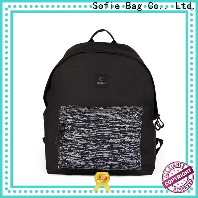 knitted fabric casual backpack customized for college