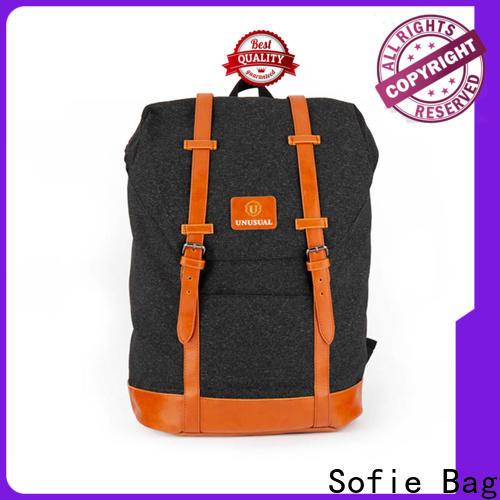 Sofie back pocket canvas backpack manufacturer for college