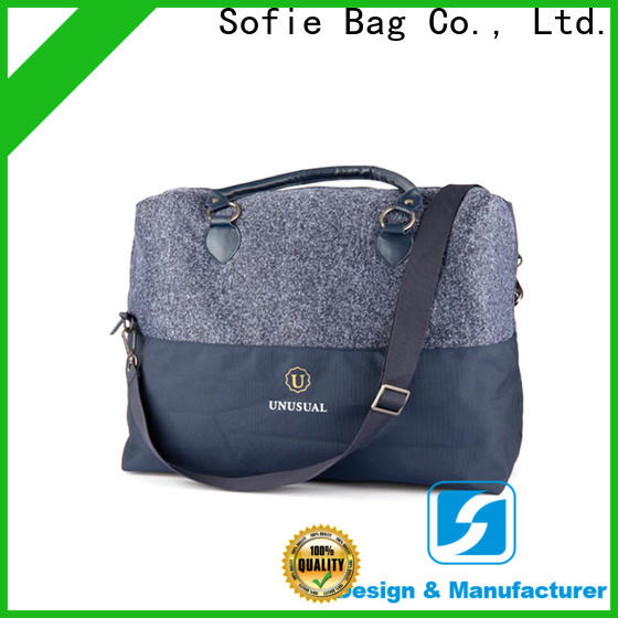 Sofie knitted fabric business travel bag directly sale for packaging
