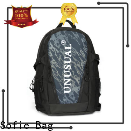 Sofie canvas backpack personalized for college