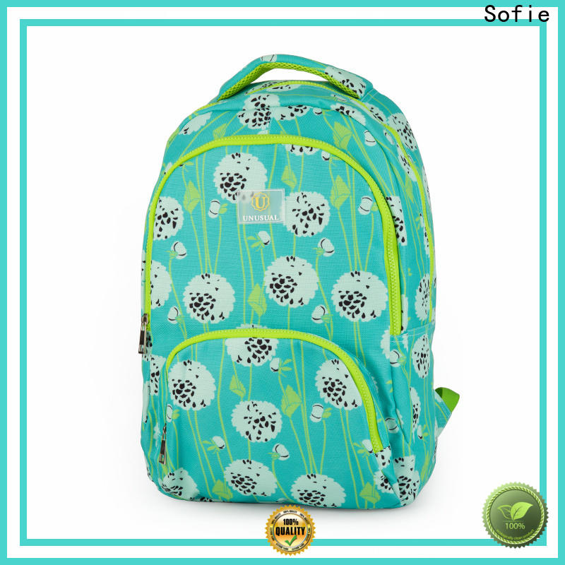 two pockets school bags for girls wholesale for kids