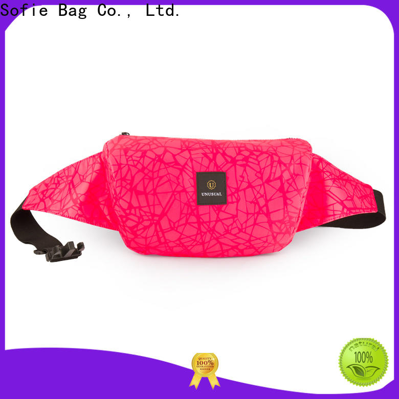 trendy waist bag factory price for jogging