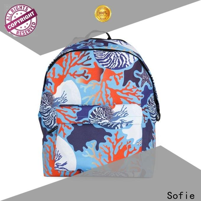Sofie two pockets school bag supplier for children