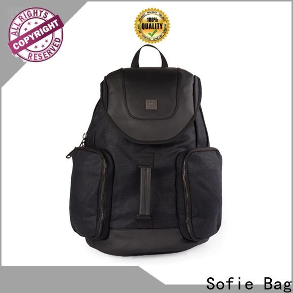 PU leather handle sport backpack manufacturer for travel