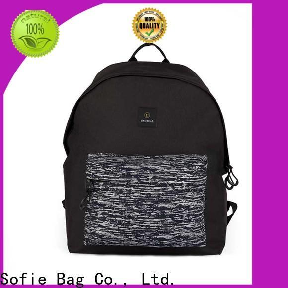 Sofie two zipper side backpacks for men customized for travel