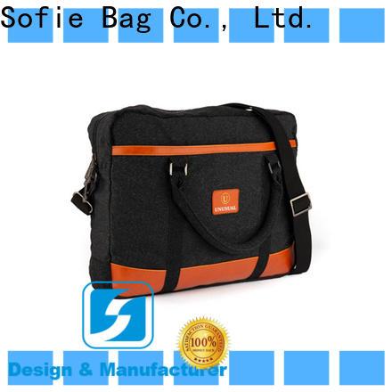 Sofie nylon shoulder straps laptop messenger bags supplier for men