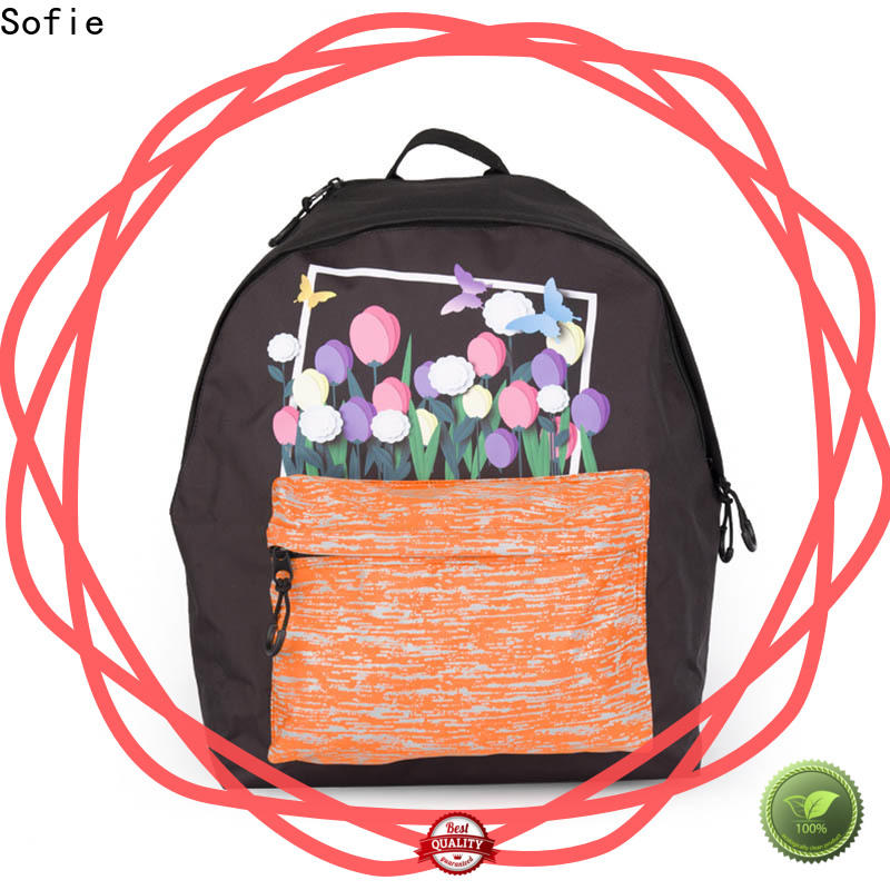 Sofie hard EVA bottom school bags for girls customized for packaging