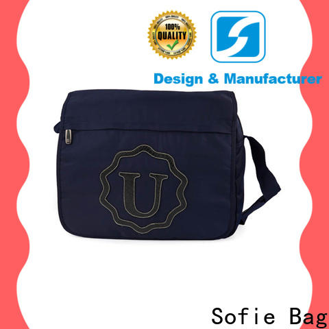 Sofie PU leather logo business laptop bag design for men