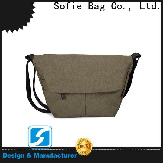 Sofie invisible front pockets men shoulder bag supplier for packaging