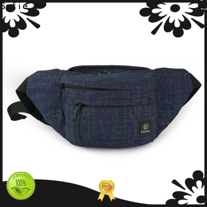 polyester belt waist bag for jogging