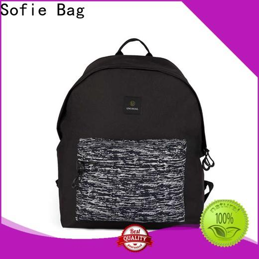 Sofie knitted fabric casual backpack manufacturer for college