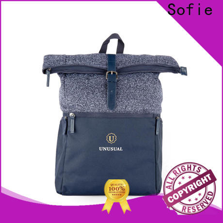 Sofie knitted fabric mini backpack customized for business