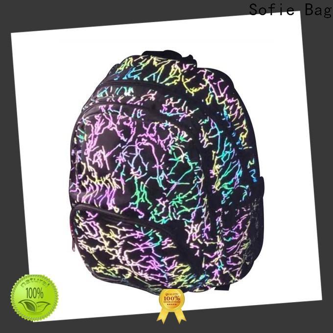Sofie polyester school bag customized for children