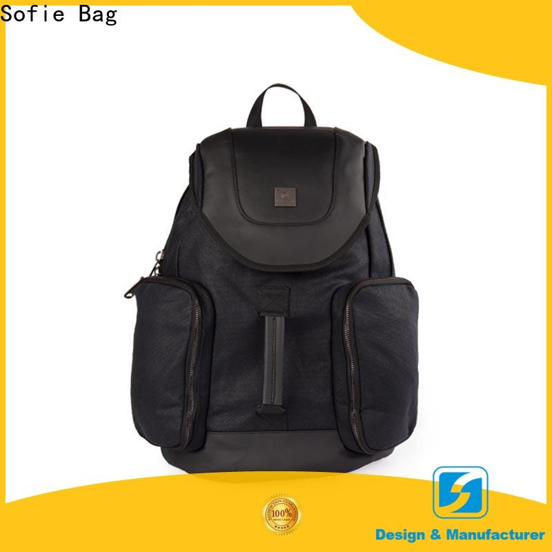 two zipper side casual backpack customized for business