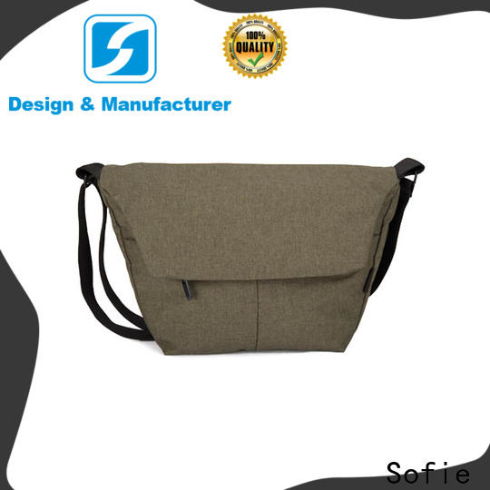 Sofie trapezoidal shape cross body shoulder bag wholesale for school