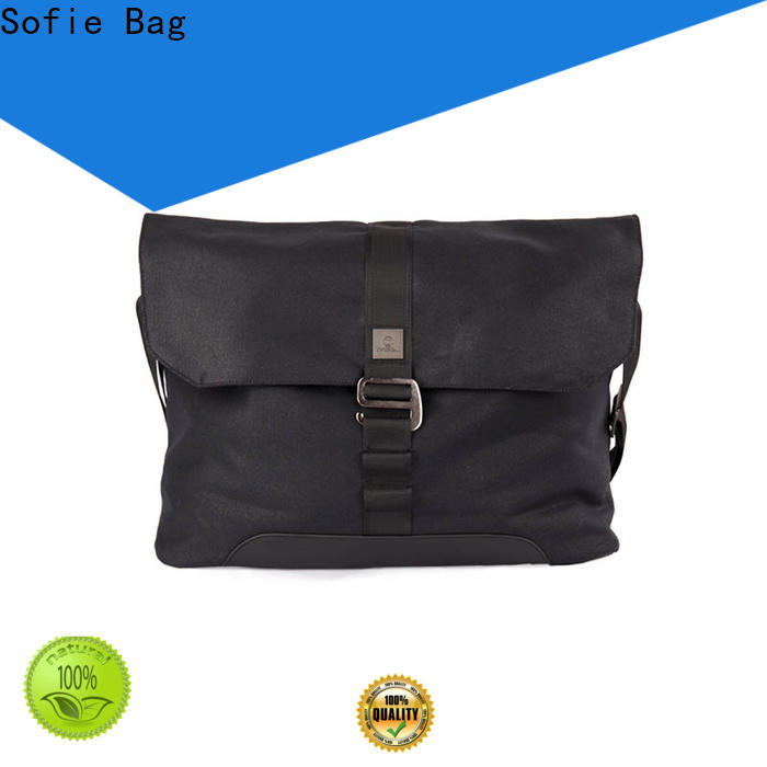 nylon shoulder straps laptop messenger bags supplier for men