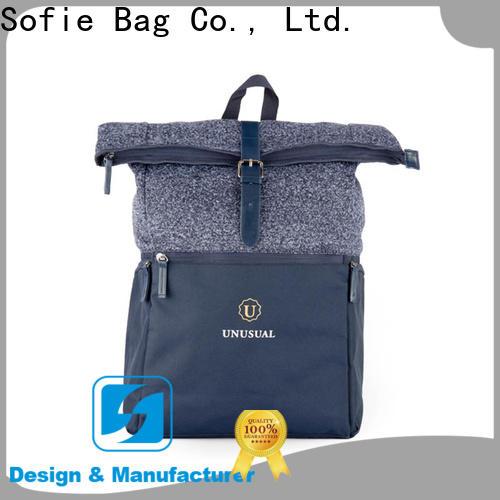 Sofie back pocket canvas backpack supplier for school