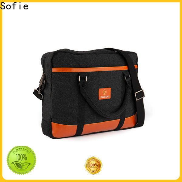 lattice jacquard fabric shoulder laptop bag supplier for travel