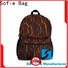 Sofie knitted fabric cool backpacks personalized for business