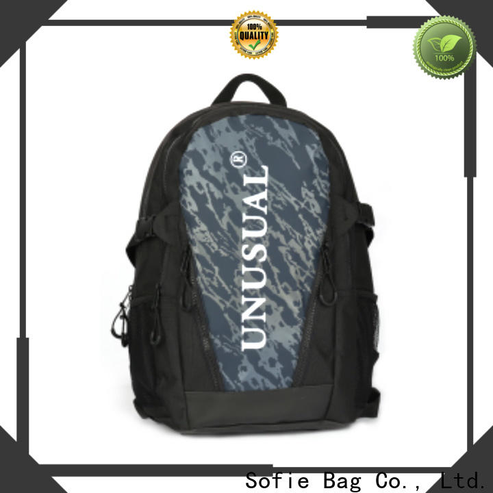 two zipper side stylish backpack wholesale for school