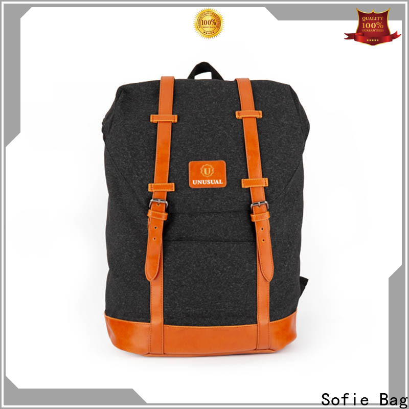Sofie two zipper side stylish backpack supplier for college