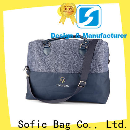 Sofie nylon shoulder straps travel bags for men factory direct supply for packaging
