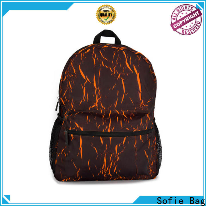 back pocket reflective backpack customized for business