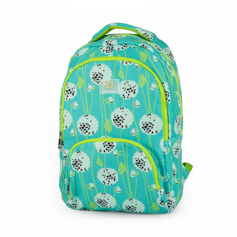 Customized full flower printing girls high school backpack S2019-04