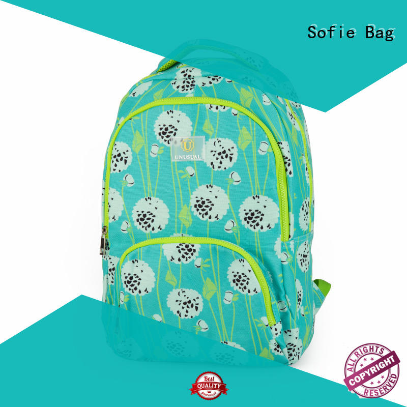 Sofie polyester school bag manufacturer for kids